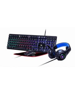 4-in-1 backlight gaming kit 'Ghost', US layout